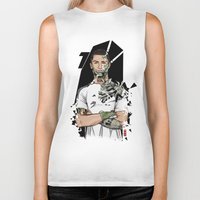 real madrid Biker Tanks featuring Football Legends Cristiano Ronaldo Real Madrid Robot by Akyanyme