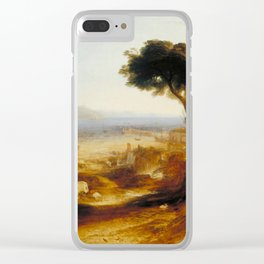 "J.M.W. Turner ""The Bay of Baiae, with Apollo and the Sibyl"" Clear iPhone Case"