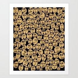 - summer faces #1 - Art Print