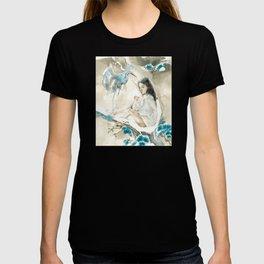 Yuki Onna and Crane Ukiyo-e  T-shirt