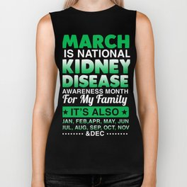 Kidney Disease Awareness T-Shirt. Biker Tank