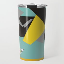 bee' flower geometric Travel Mug