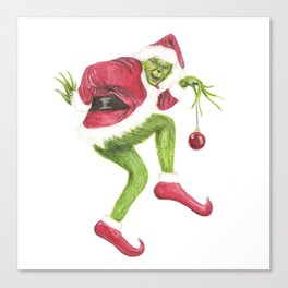 Grinch Canvas Print