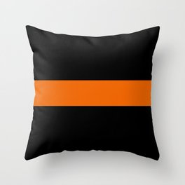 The Thin Orange Line Throw Pillow