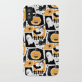 Beware of the Cat -Pattern iPhone Case