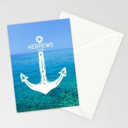 Hebrews Anchor Ocean Stationery Cards