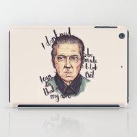 christopher walken iPad Cases featuring Christopher Walken by Ella Betts