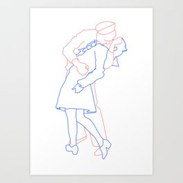 Passion of a Man & Woman Art Print