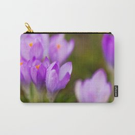 Blooming Crocuses Carry-All Pouch