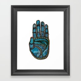 The Hand Of (Free)Time Framed Art Print