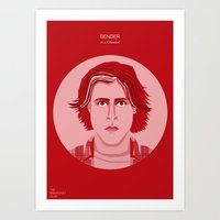 breakfast club Art Prints featuring The Breakfast Club - Bender by Pri Floriano