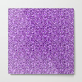 Purple Moondust Glitter Pattern Metal Print