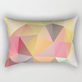 Polygon print bright colors Rectangular Pillow