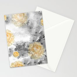CHERRY BLOSSOMS AND YELLOW ROSES Stationery Cards