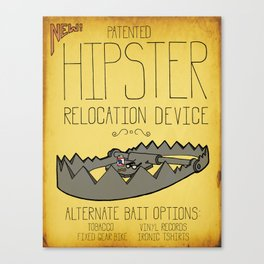 Hipster Relocation Device Canvas Print