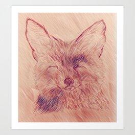 Earth Toned Fox Art Print