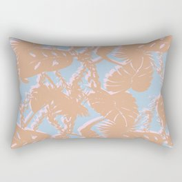 Contrast Palms Rectangular Pillow