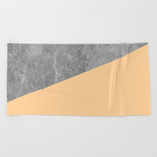 Geometry 101 Orange Sherbet Beach Towel