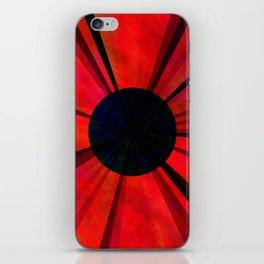 Red Darkviolet Sun iPhone Skin