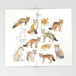 Foxes Throw Blanket