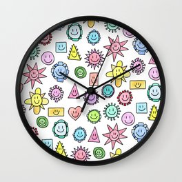Happy happy happy Wall Clock