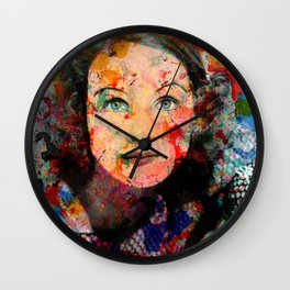 Pop Art Vintage Portrait Actress Wall Clock