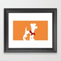 Oliver and company (no title) Framed Art Print