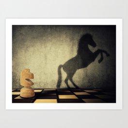 wild knight Art Print