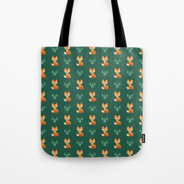 Geometric Foxes Tote Bag