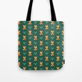 Geometric Foxes Tote Bag