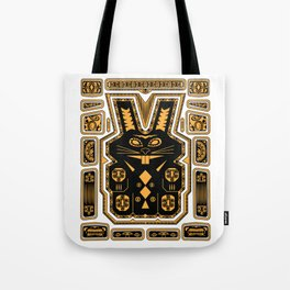 Tiki Rabbit Tote Bag