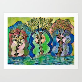 Three Goddesses: Maiden, Mother, Crone Art Print