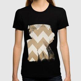 Biscotti & Vanilla - Beige Chevron T-shirt