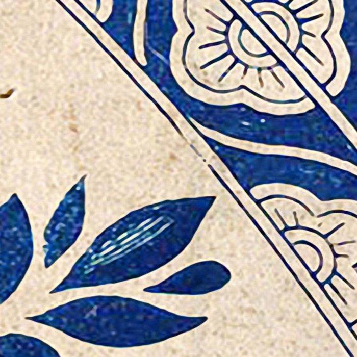 Blue Oriental Vintage Tile 04 Leggings