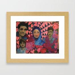 Iranian Student Protestors  Framed Art Print