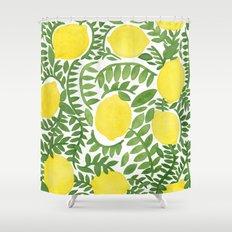 The Fresh Lemon Shower Curtain