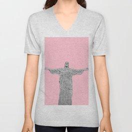 Christ Redeemer Rio de Janeiro - Art Unisex V-Neck