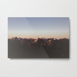 A Cascade Sunset Metal Print