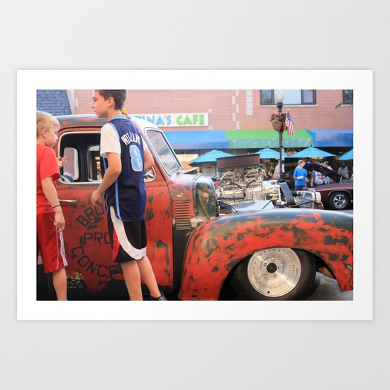 Kids in America Art Print