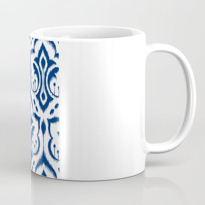 Ikat Damask Navy Coffee Mug