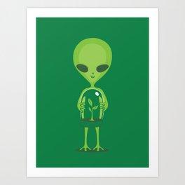 Green as a Little Green Does Art Print