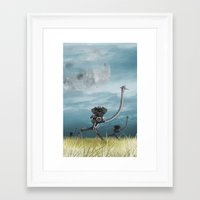 maze runner Framed Art Prints featuring Runner by Tony Vazquez