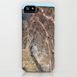 Painted Black Canyon of the Gunnison Walls iPhone Case