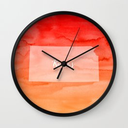 Sweet Home Kansas Wall Clock