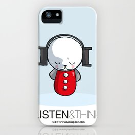 Luka Space Listen & Think iPhone Case