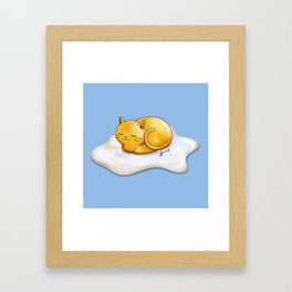 Sunny-side Up Cat Framed Art Print