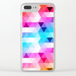 Abstract Triangle Colorful Clear iPhone Case
