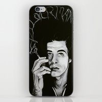 "nick cave iPhone & iPod Skins featuring Nick Cave ""Loverman"" by Kate Davis"