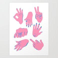 trans hands Art Print