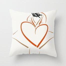 The heart dress. Throw Pillow